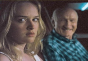 Young woman with a creepy old man
